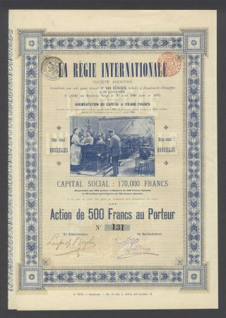 Belgium 1904 Bond - La Regie Internationale - Tabac Tobacco. .  R3376 photo