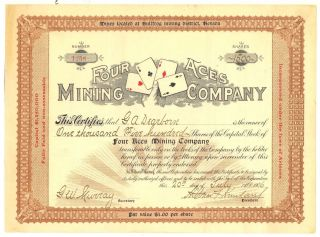 Four Aces Mining Co. ,  1906,  Bullfrog Mining District,  Nevada photo