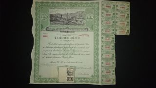 CompaÑia De Minas La Blanca Y Anexas.  Title Of 5 Shares.  Mexico 1936 photo