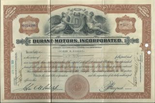 1931 Durant Motors,  Inc.  Capital Stock Certificate - Gm Chevrolet Flint Lansing photo