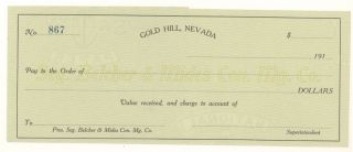 1910s - Seg Belcher & Mides Con.  Mining.  Co. ,  Gold Hill,  Nevada photo