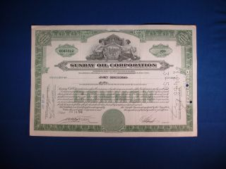 Sunray Oil Corporation Stock Certificate,  50 Share Certificate. photo