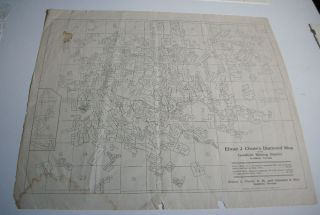 1907 Goldfield Nevada Gold Mining Claim Location & Company Map By Elmer J Chute photo