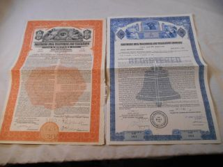 Vintage Southern Bell Telephone & Telegraph Company Debentures photo