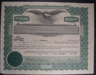 1924 The Pearce Petroleum Company Stock Certificate Wichita Kansas photo
