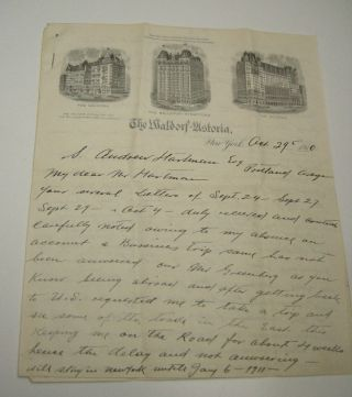 1910 Mining Stock Investments Letter Waldorf Astoria Graphic Virginia History photo