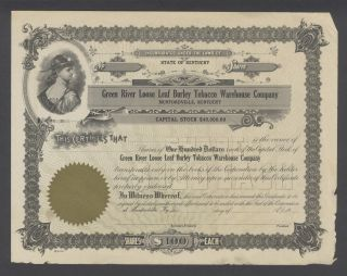 United States 1900s Tobacco Company Uncirculated Illustrated Bond. .  R3312 photo