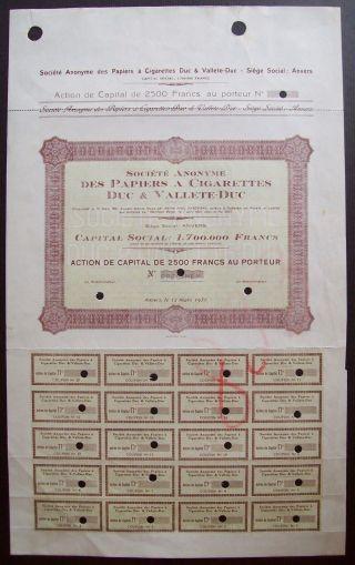 Belgium 1931 Bond Papier A Cigarette Duc Valette - Uncirculated Specimen.  A9778 photo