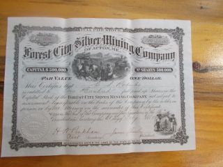Forest City Silver Mining Company Of Acton,  Maine 1880 photo