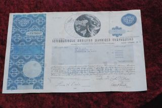 International Business Machines Common Share Stock Certificate photo