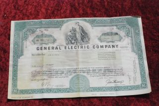 General Electric Common Share Stock Certificate From 1991. photo