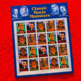 Movie Monsters Classic U.  S.  Postage Stamp Folio Outstanding Design photo