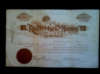 The Rattler Gold Mining Company Cripple Creek Colorado 1900 photo