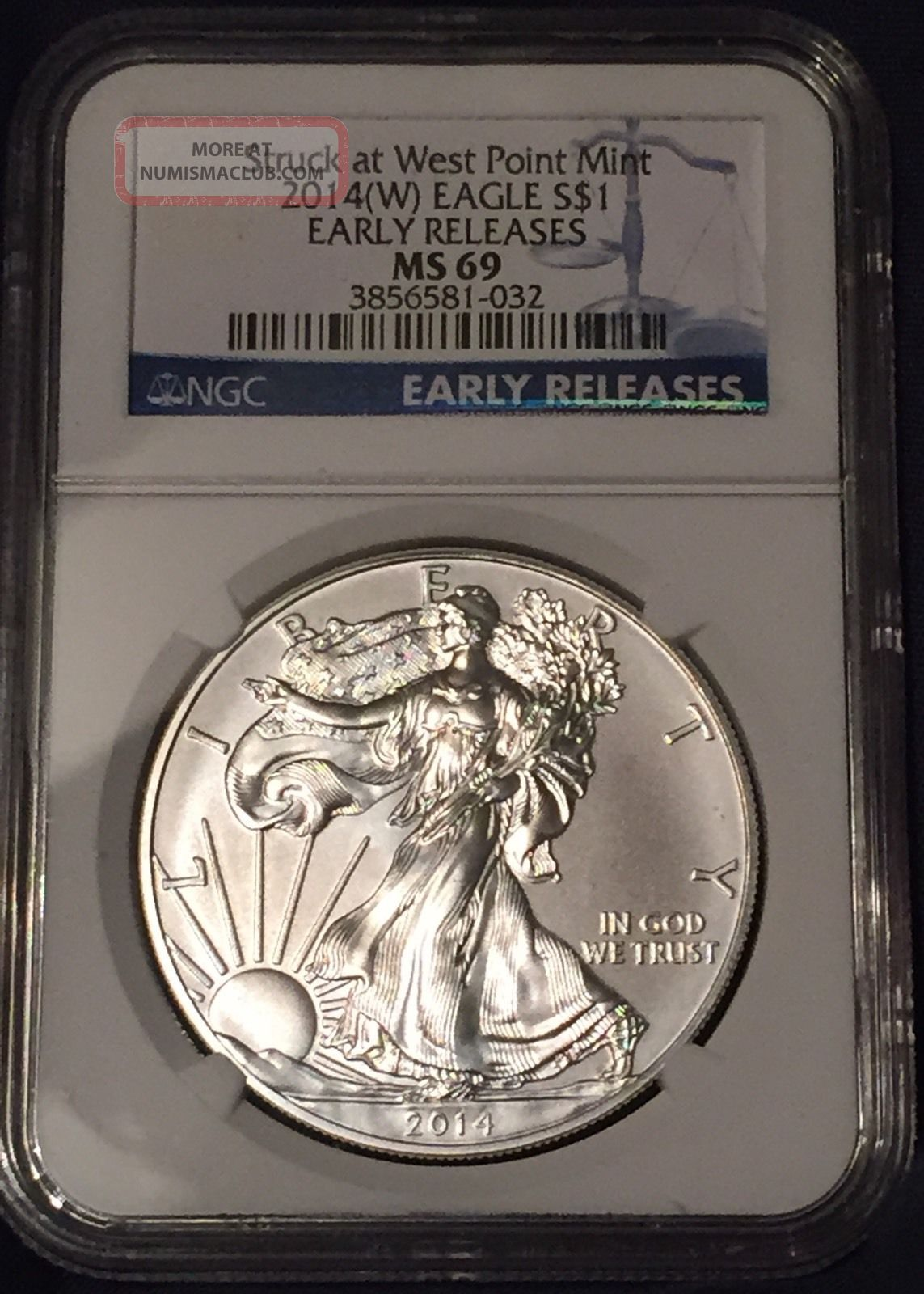 Rare Doubleing 2014 Silver Eagle W Error Doubled Die