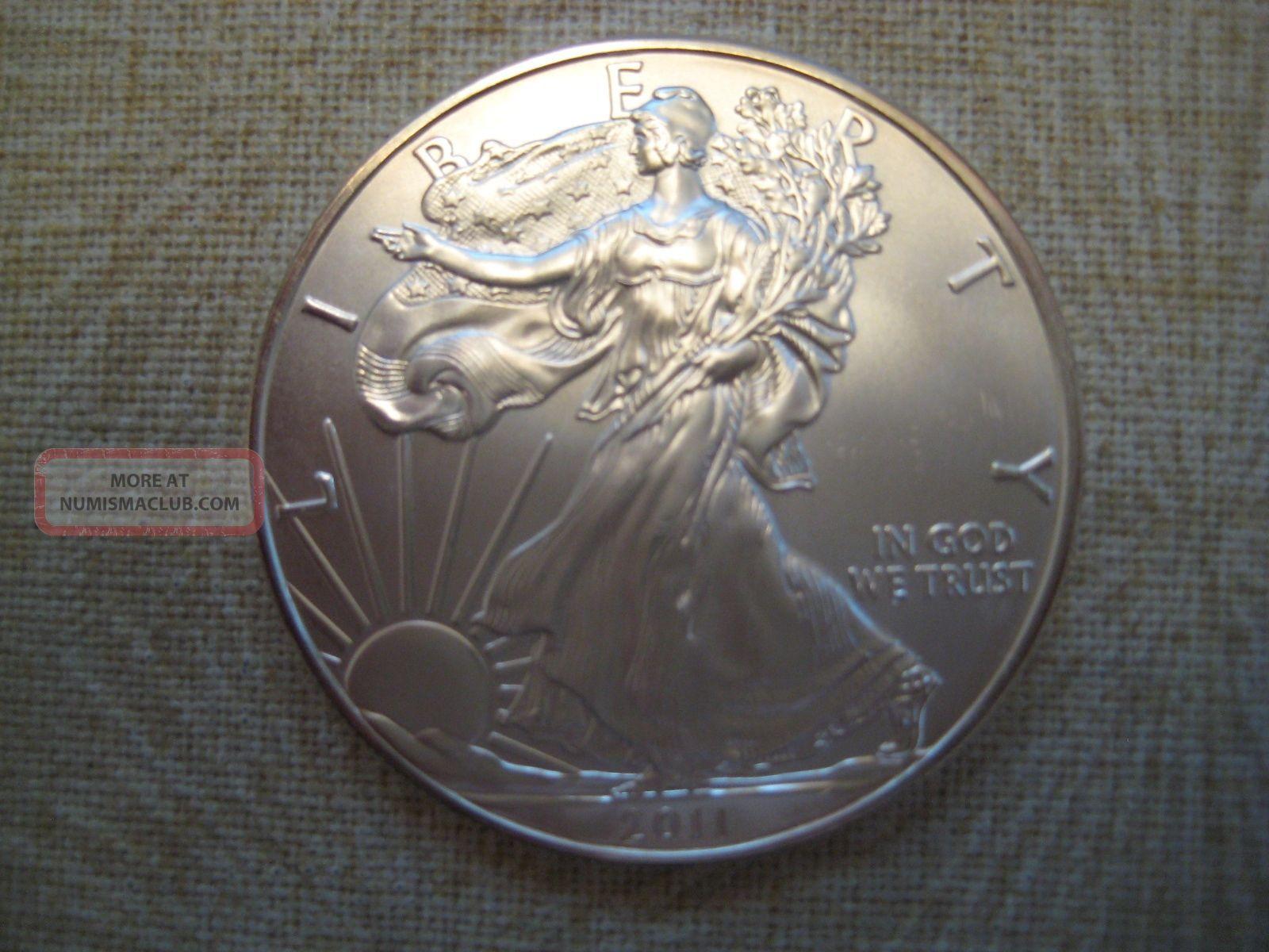 2011 American Silver Eagle Bu Ungraded Coin 01
