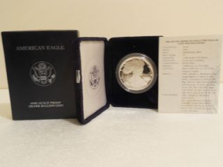 1994 Proof American Eagle Silver Dollar With photo