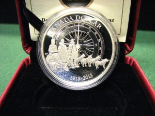 2013 Canada Silver Dollar Canadian Arctic Expedition Silver Coin W/ Box & photo