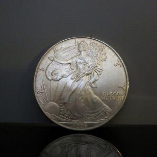 1996 American Silver Eagle.  999 1 Ounce Dollar Coin - photo
