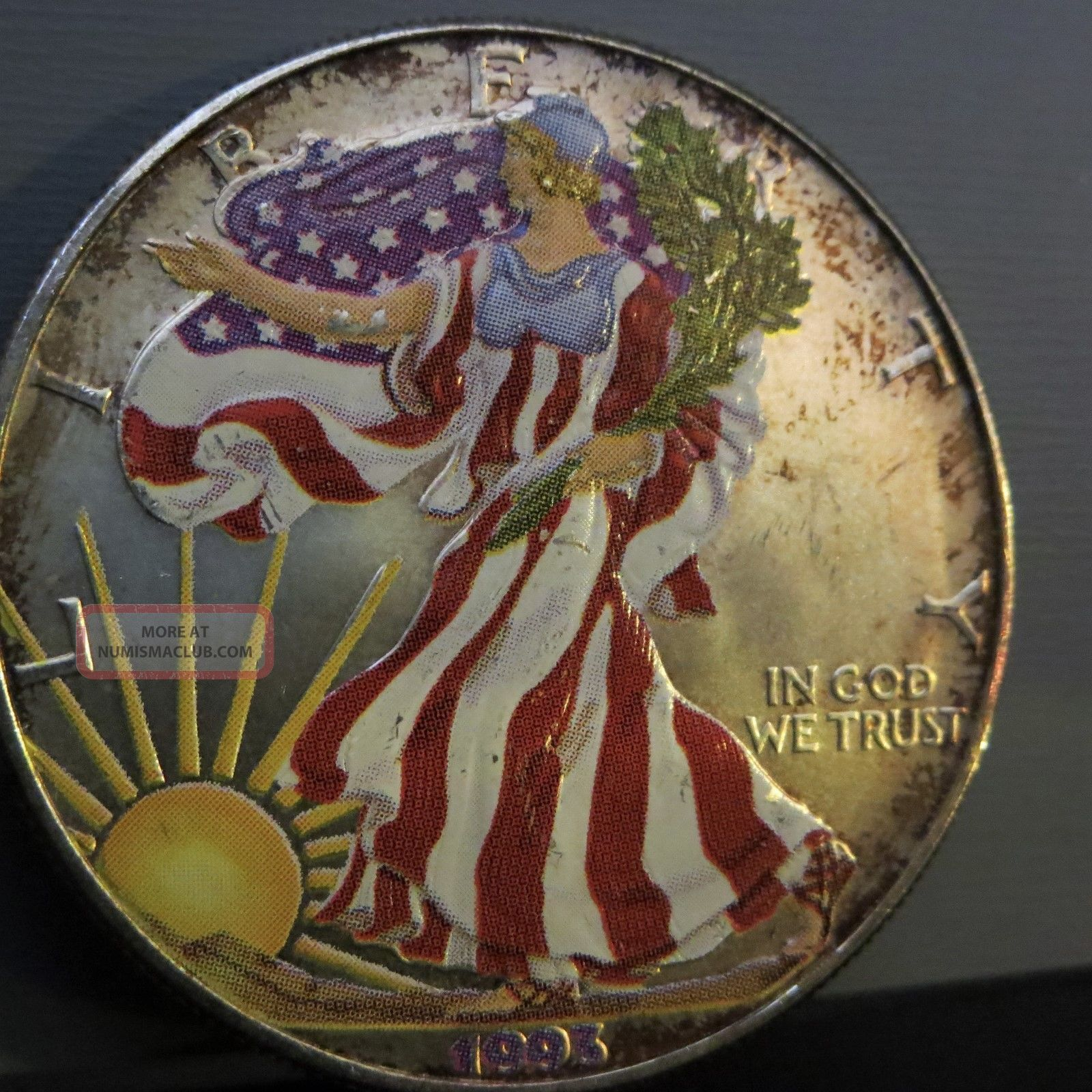 1993 American Silver Eagle Special Edition Colorized 1