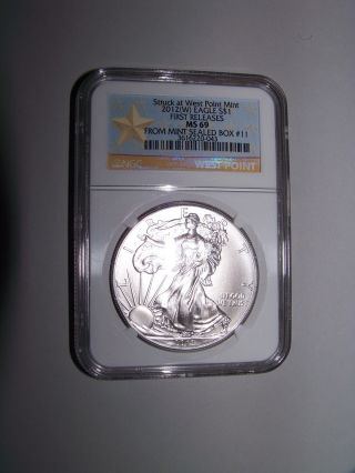 2012 W Silver Eagle First Release,  Box 11 Ngc Ms69 photo