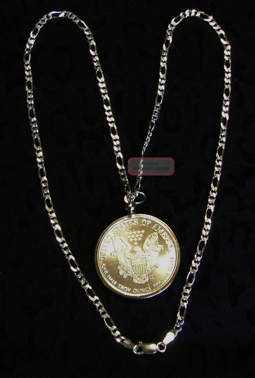 576 American Eagle Bullion 1 2 Oz 999 Pure Silver Necklace Sterling Silver