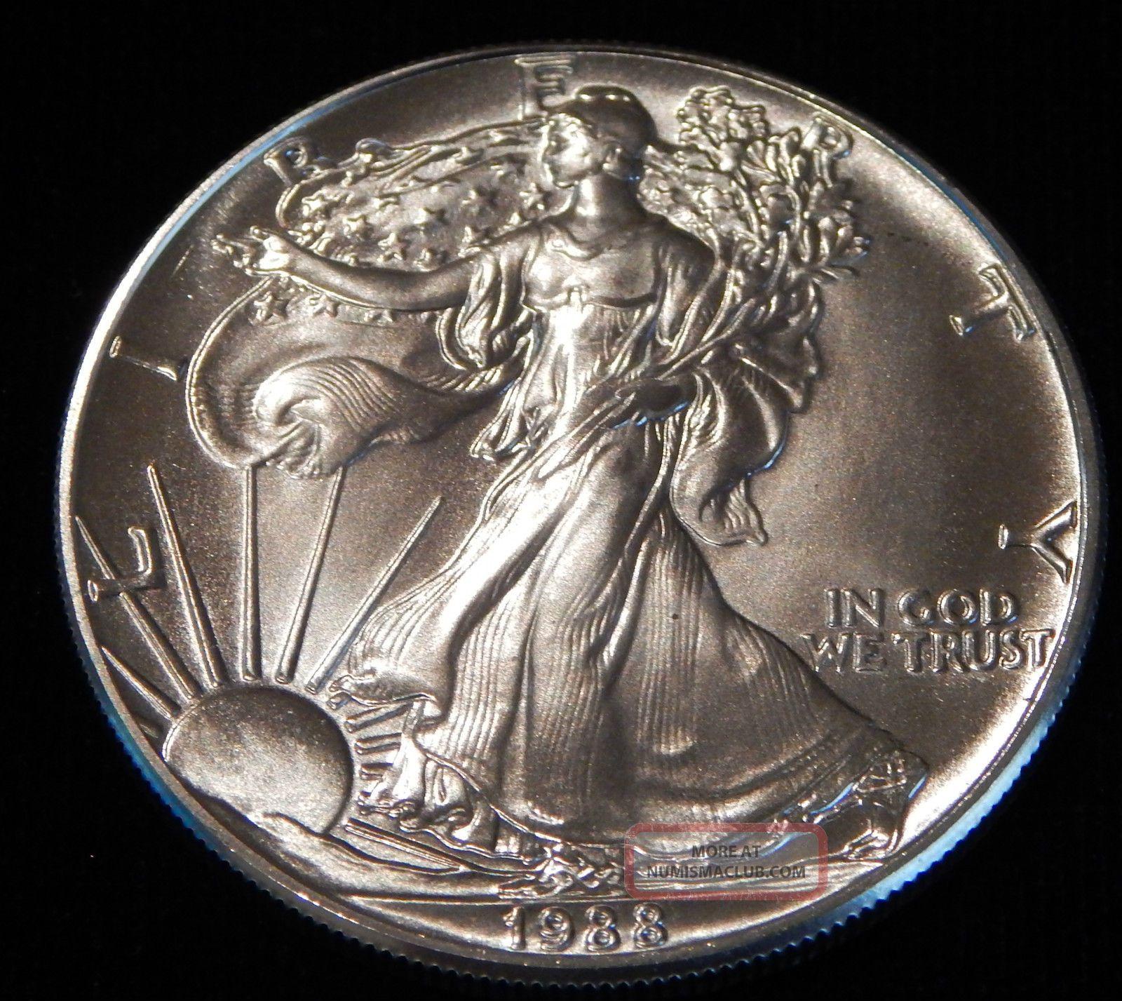 1988 American Silver Eagle Bullion Coin Rare Key Date