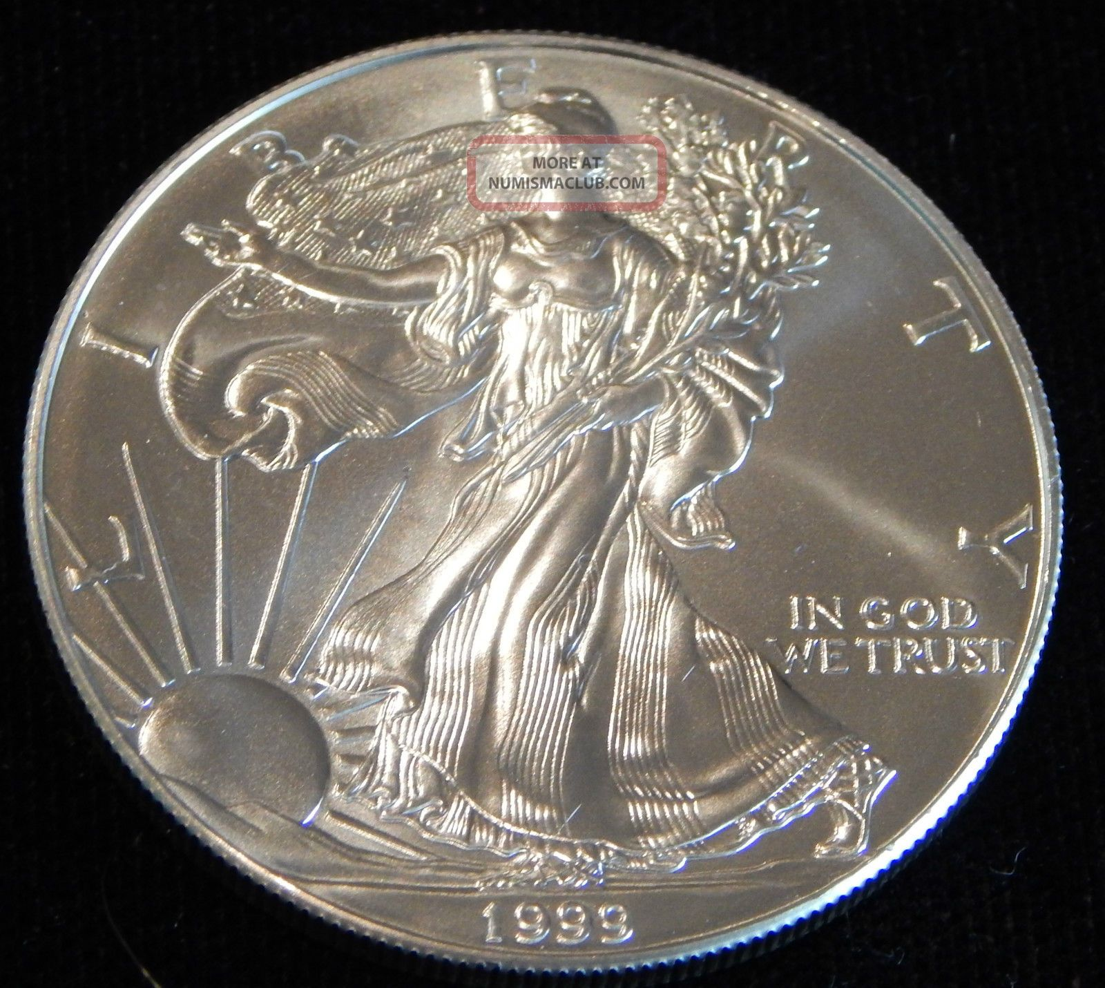 1999 American Silver Eagle Bullion Coin Rare Key Date