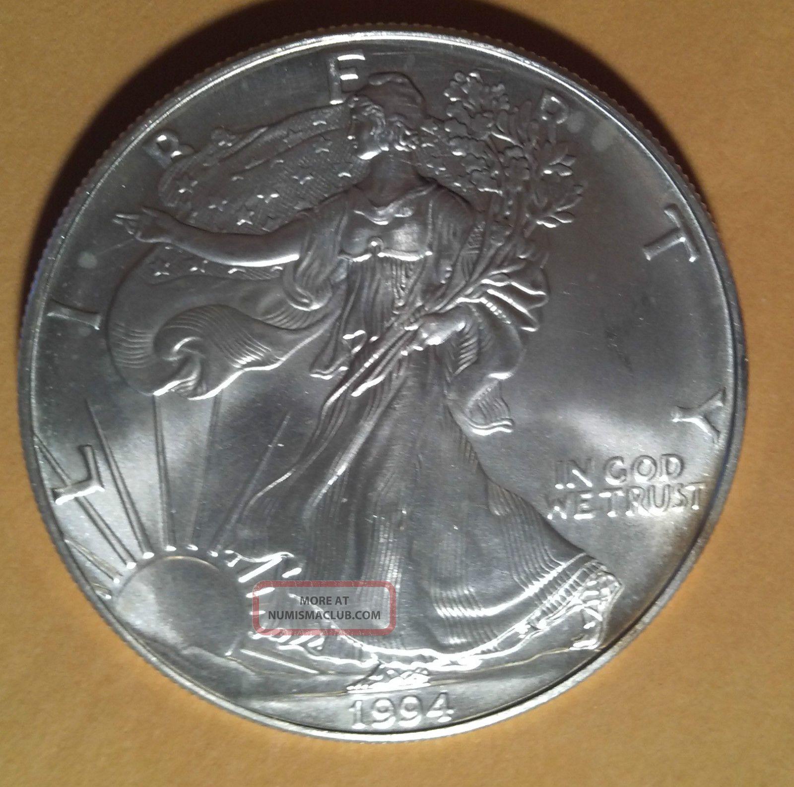 1994 Liberty American Silver Eagle 999 Fine Silver Coin