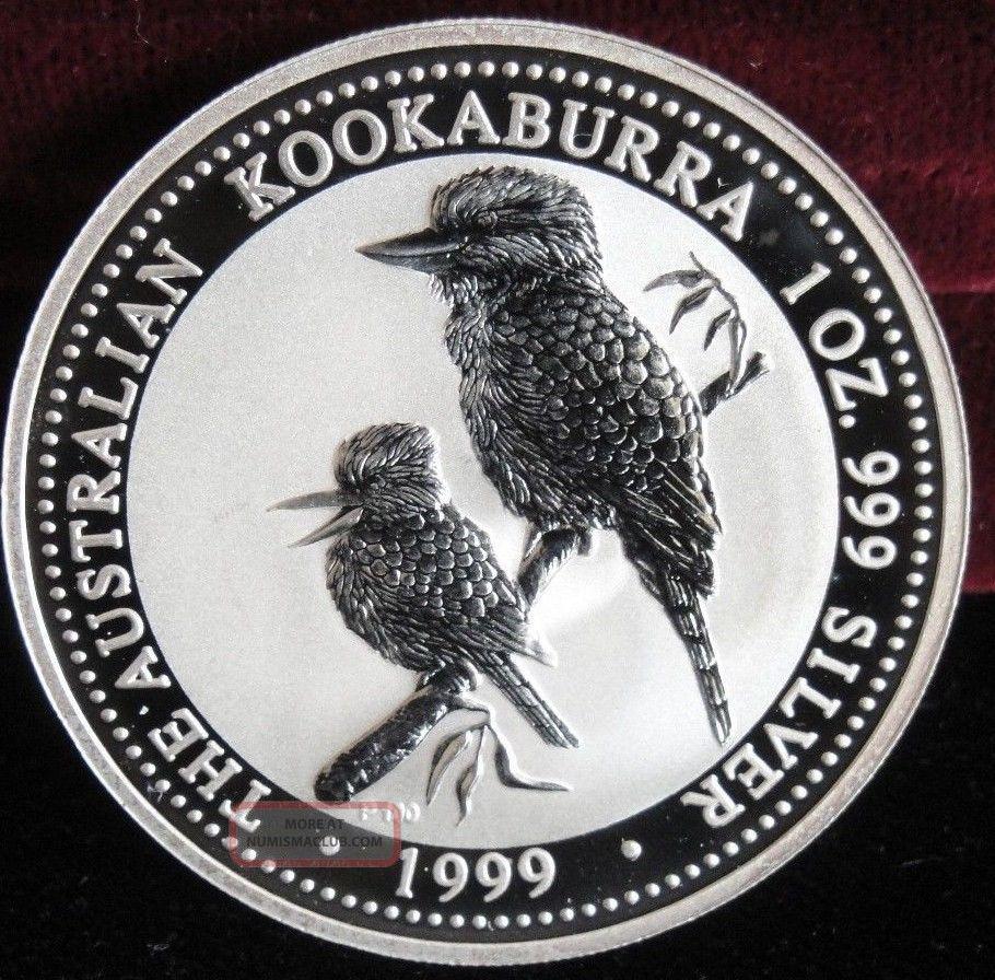 1999 Australia 1 Silver Kookaburra Bullion Coin Bu