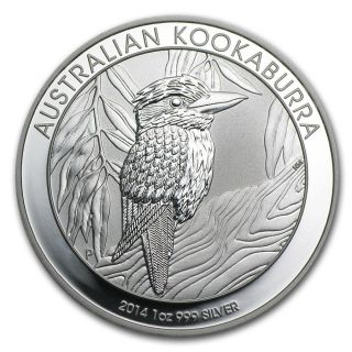2014 Australian 1 Oz Silver Kookaburra - Real Gem photo