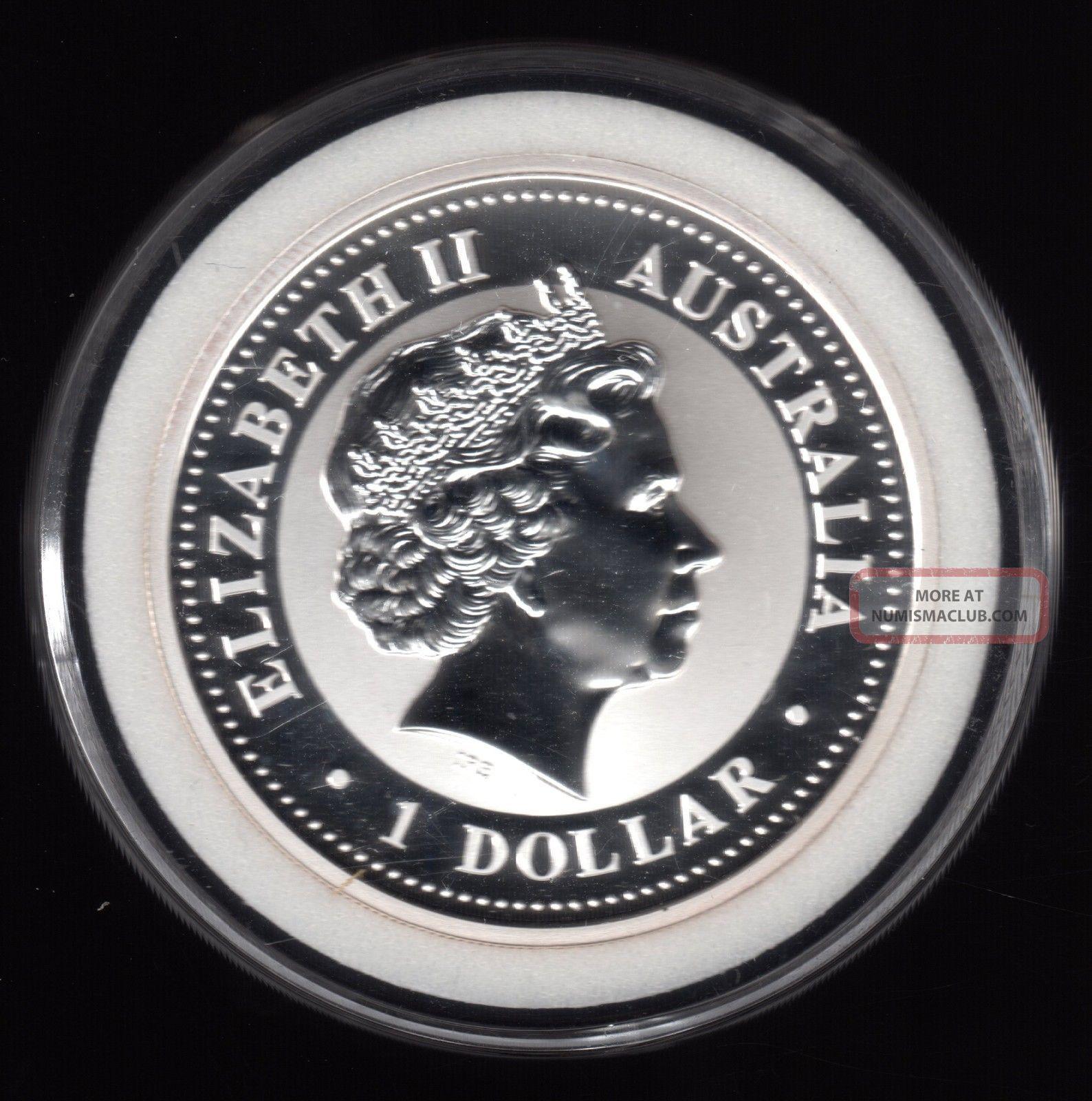 2001 Australia Queen Elizabeth Ii Kookaburra 1 Dollar