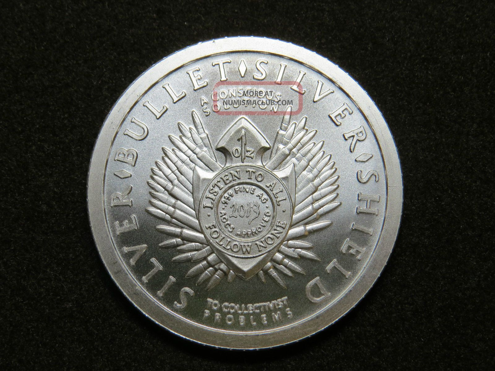 1 Oz Silver Bullet Silver Shield Keep Calm And Slave On