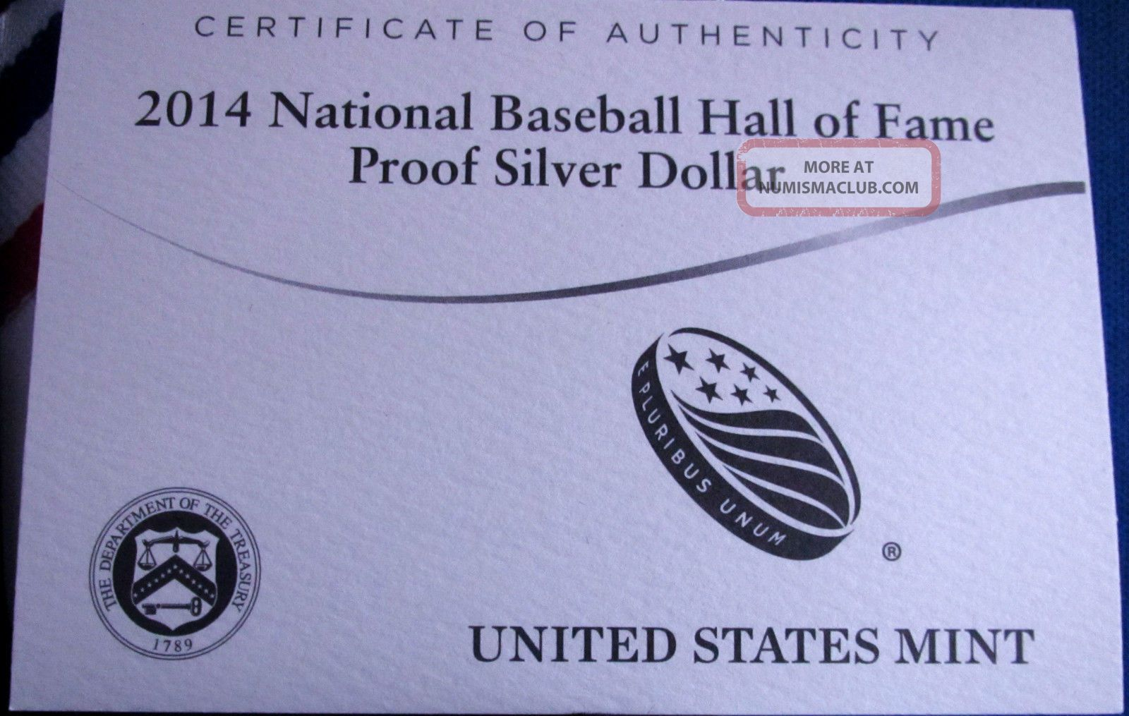 2014 P Baseball Hall Of Fame Silver Dollar Proof Ogp And