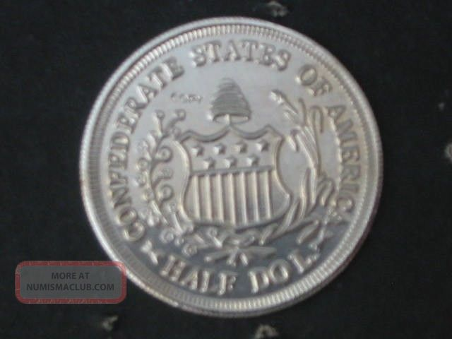 1861 Confederate States Of America Csa Layered Silver