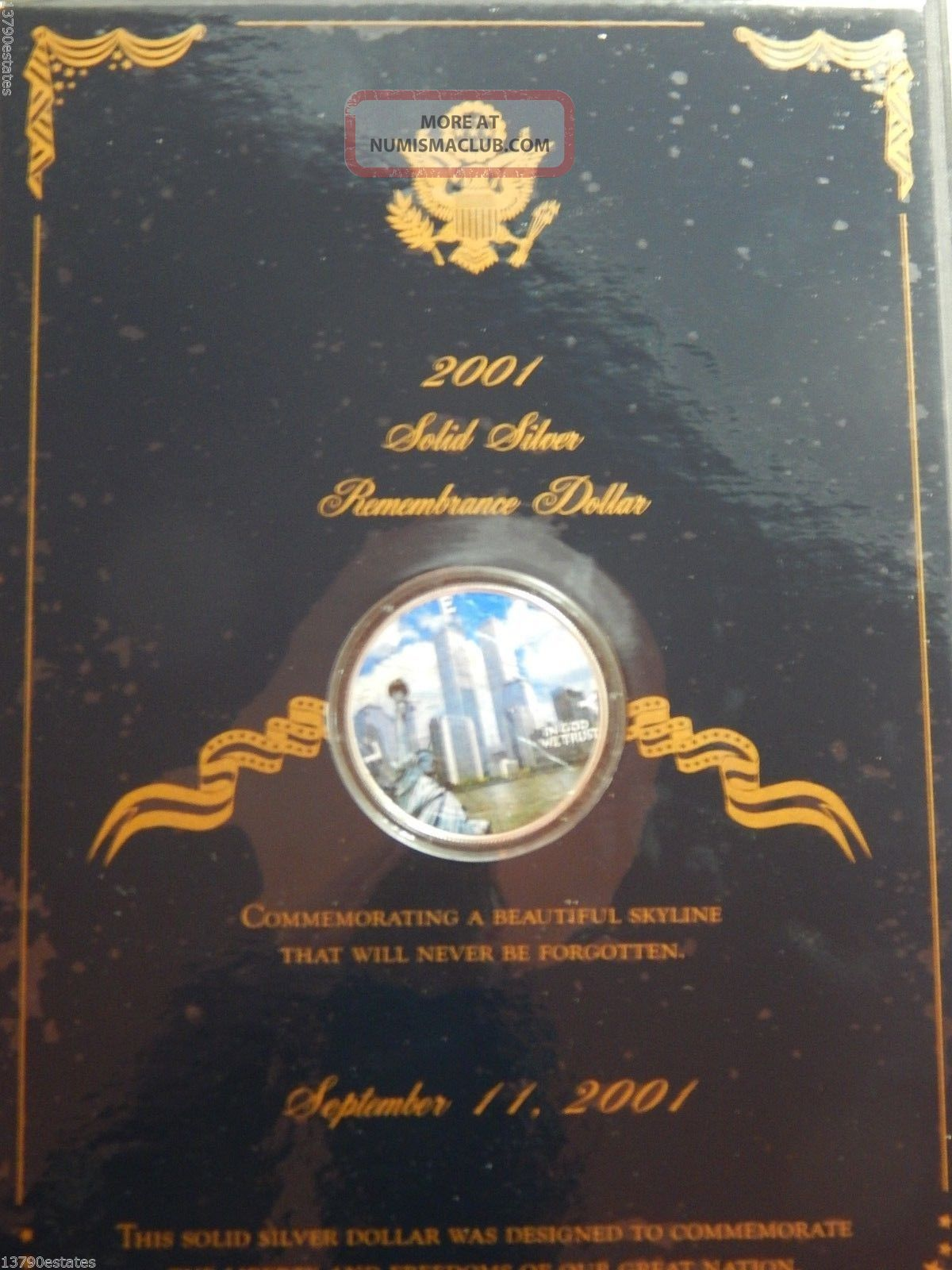 2001 Colorized American Silver Eagle Dollar Bullion Coin