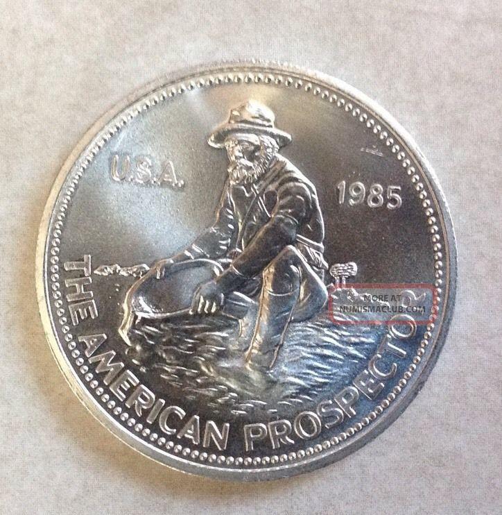 1985 1 Oz Engelhard American Prospector Silver Round 999
