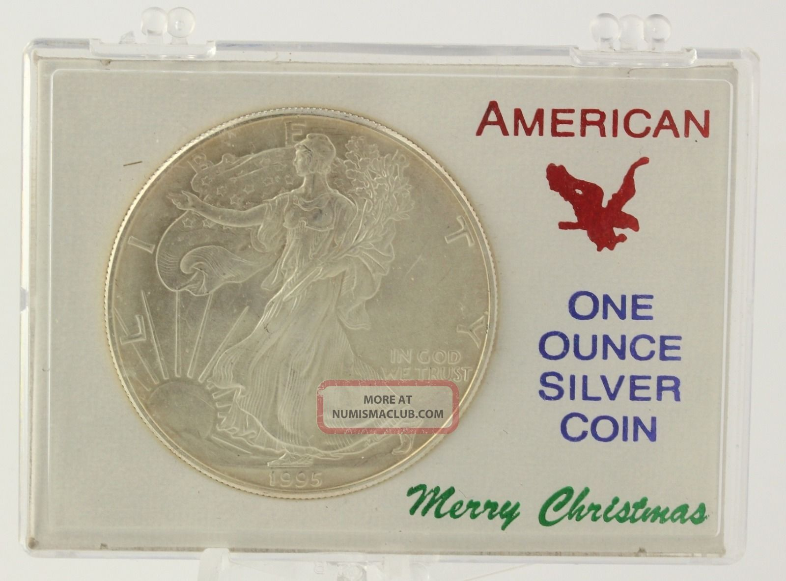 1995 American Silver Eagle Merry Christmas 1oz 999 Dollar