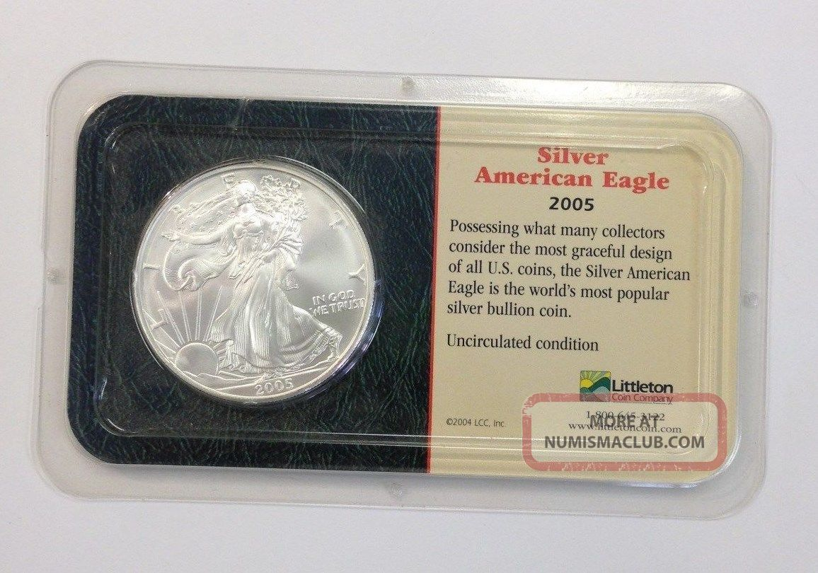 2005 American Silver Eagle Littleton Coin Company Package