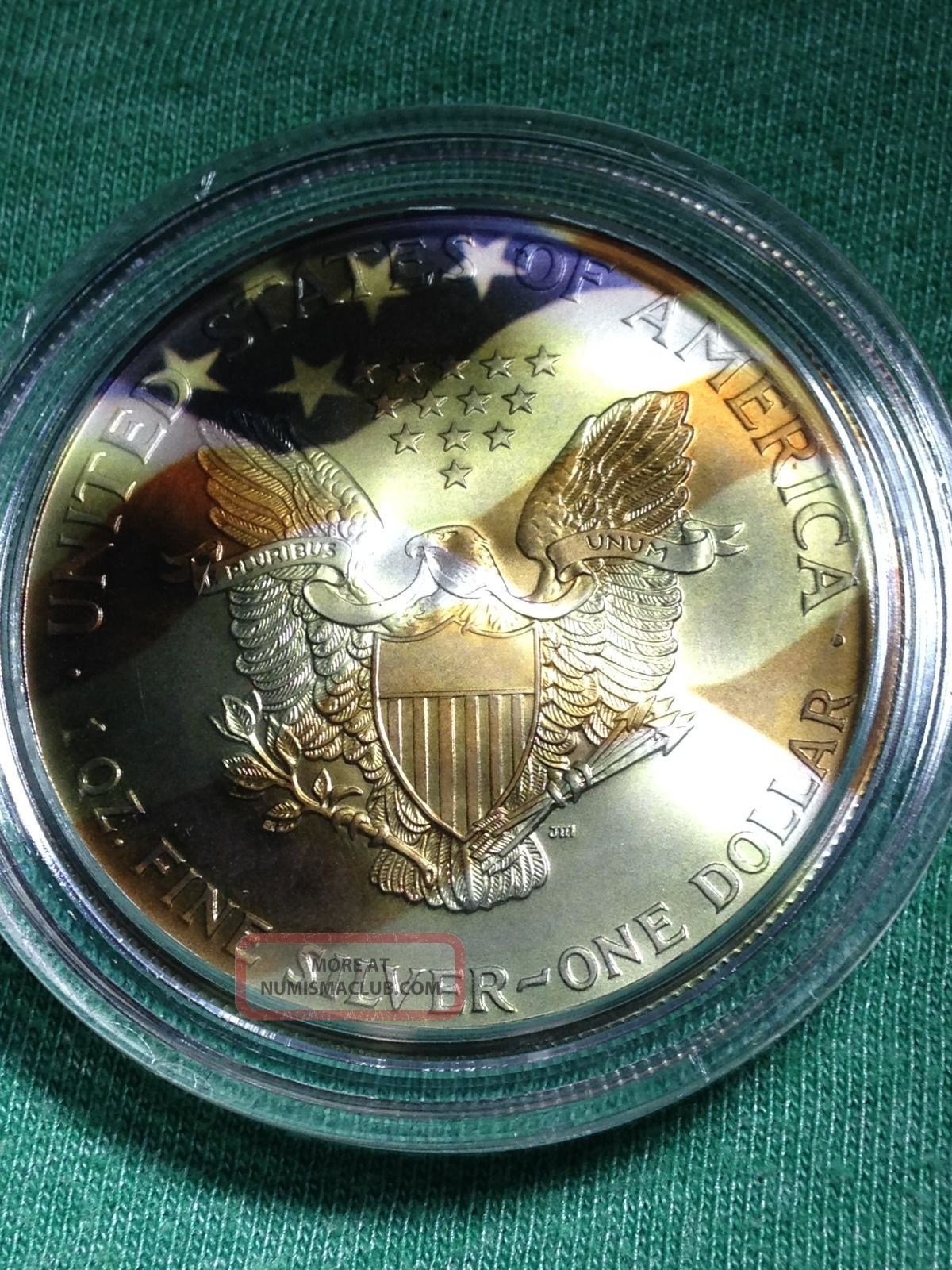 2000 Silver Eagle 1oz 999 Pure Silver Colorized Dollar
