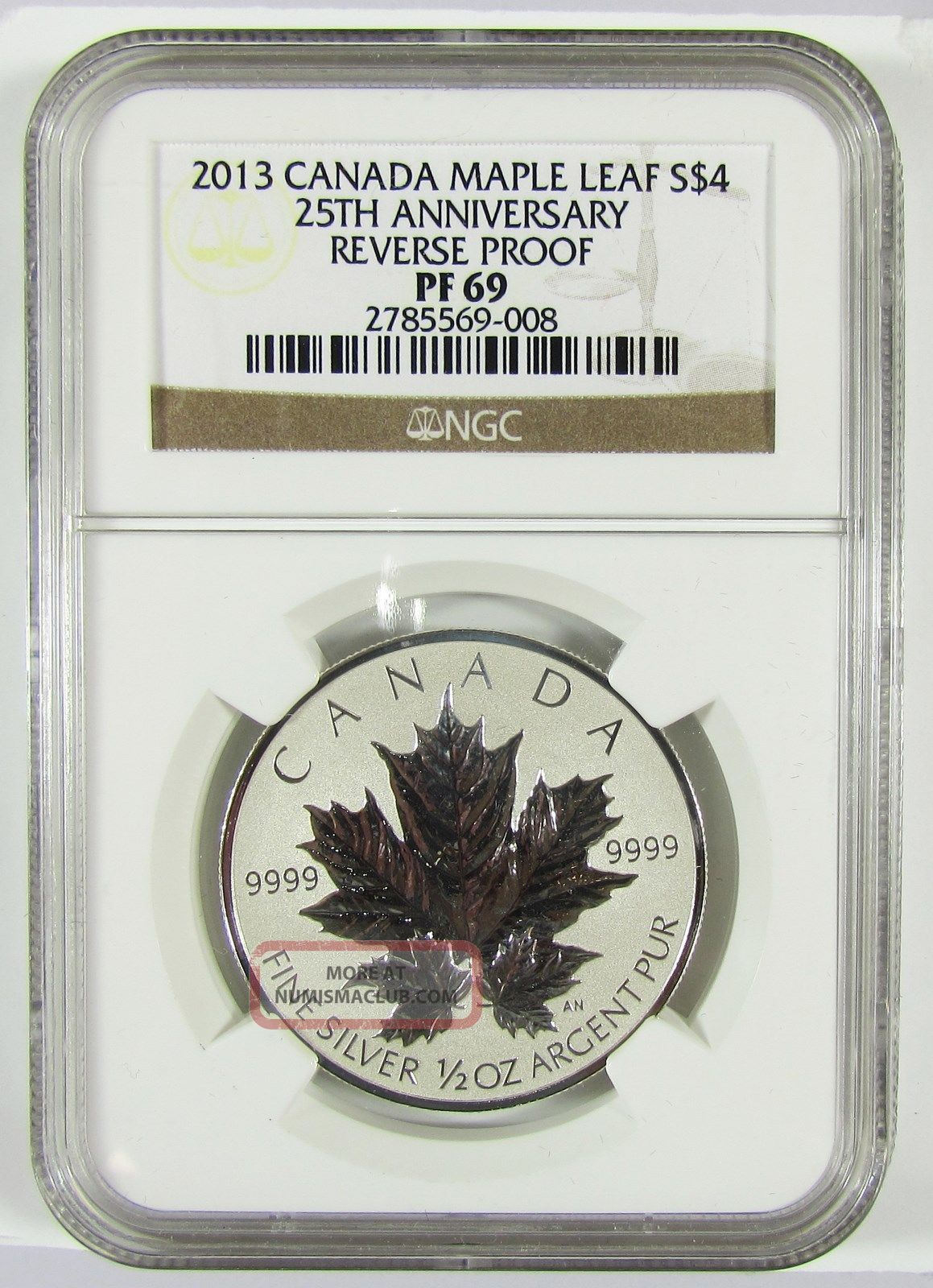 2013 Canada 4 25th Anniversary Reverse Proof Maple Leaf 1