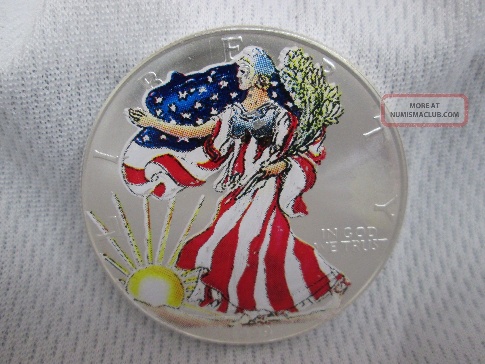 1999 American Eagle Walking Liberty Colorized Painted