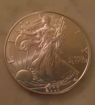 1 Oz Fine Silver One Dollar 1987