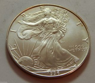1996 American Silver Eagle Dollar Bullion Coin - Best Date photo