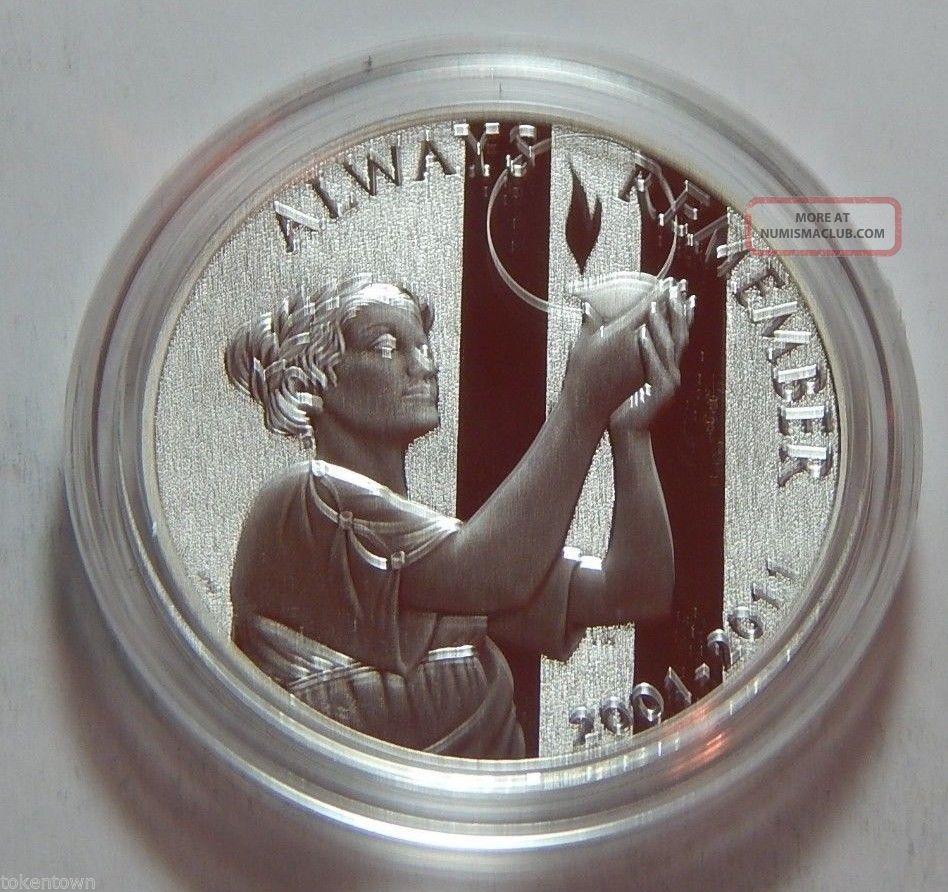 2011 W Us Proof 1 Troy Oz 999 Fine Silver Medal
