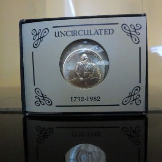 1982 - D George Washington Uncirculated Silver Half Dollar 50c,  Us & photo