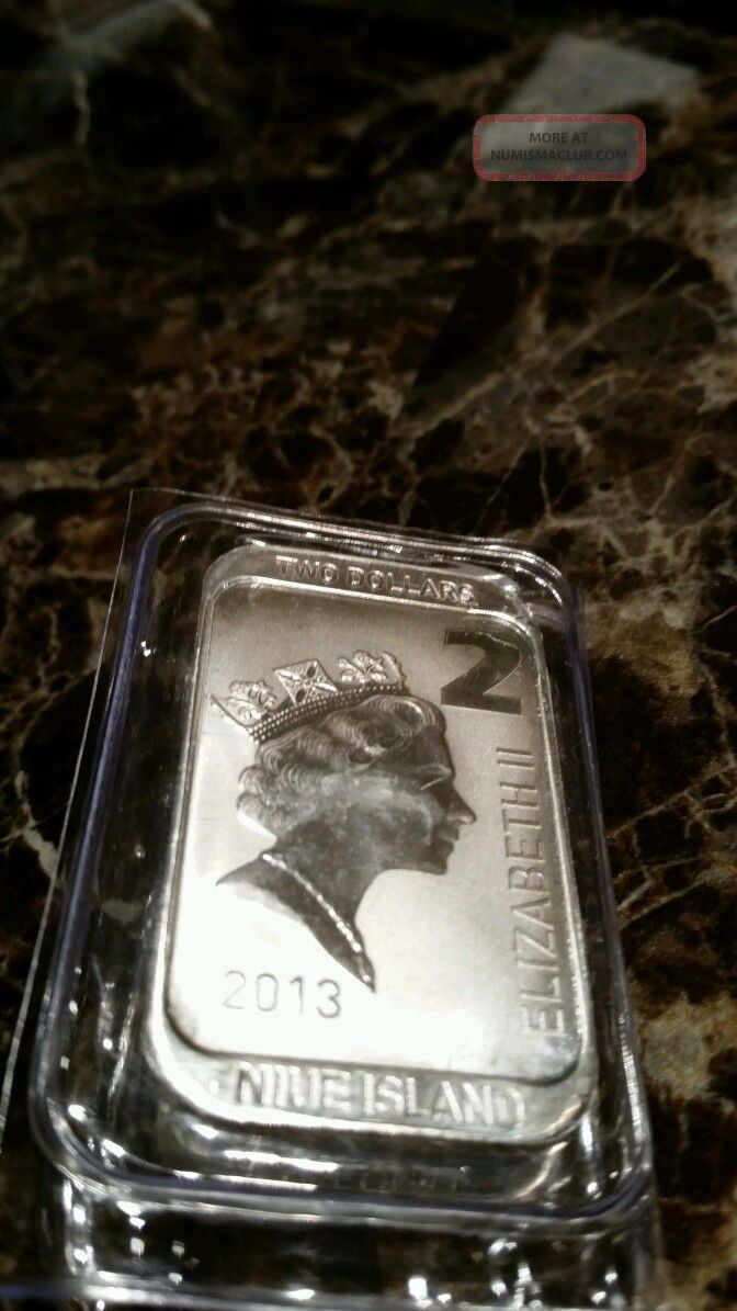 Scottsdale Silver 1 Oz 999 Silver 2 Niue Coin Bar A Must
