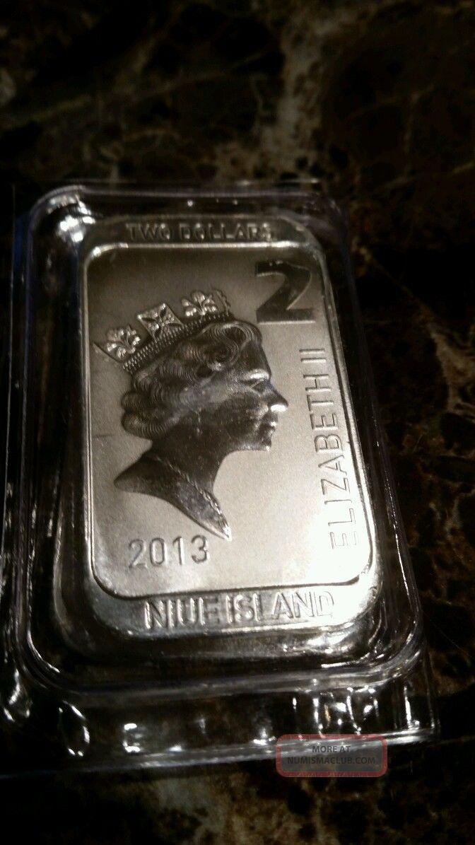 Scottsdale Silver 1 Oz 999 Silver 2 Niue Coin Bar A Must