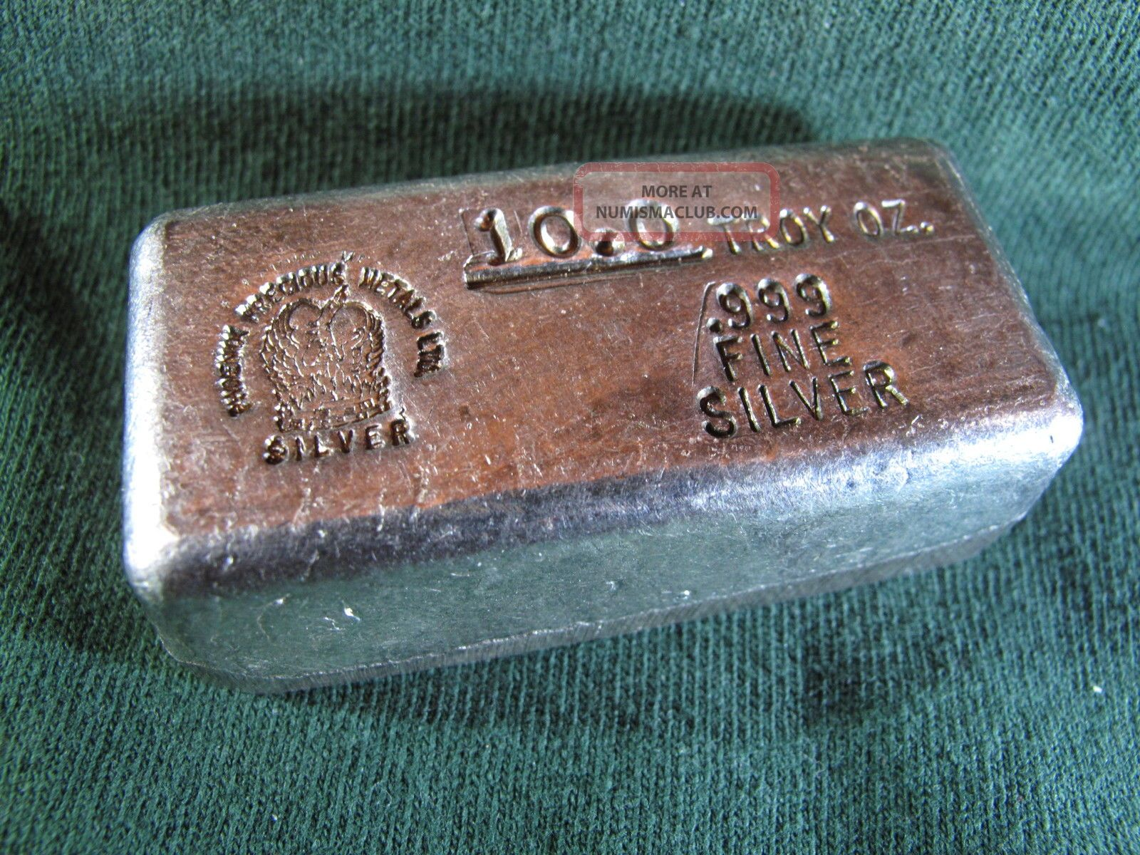 10 Oz Old Hand Poured Loaf Style Phoenix Precious Metals