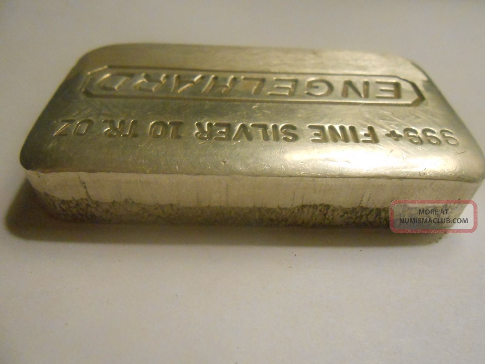 Very Rare Engelhard 10 Oz 999 Fine Silver Loaf Style