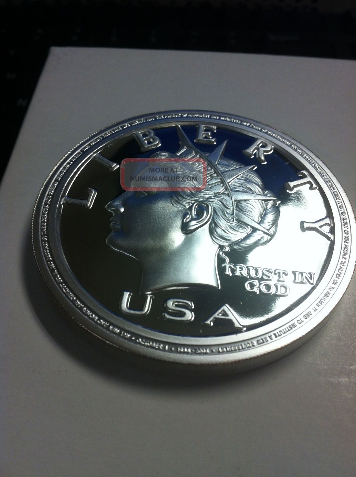 2003 Anniversary Norfed Liberty Proof 50 5 Oz Round 999